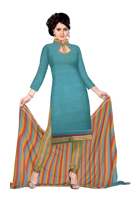 Free indian clothing fashion silk dress woman model