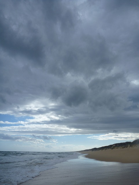 Free beach clouds low water wave on beach australia