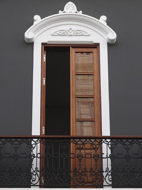 Free minimalism door building facade balcony handrail