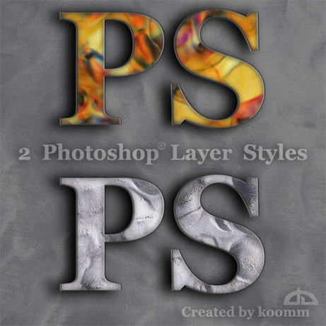 Free Styles: Photoshop Styles for Text | Koomm