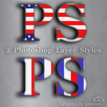 Free USA Photoshop Styles