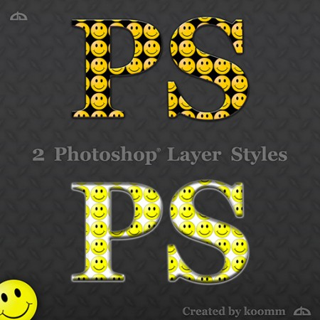 Free Smiley Photoshop Styles