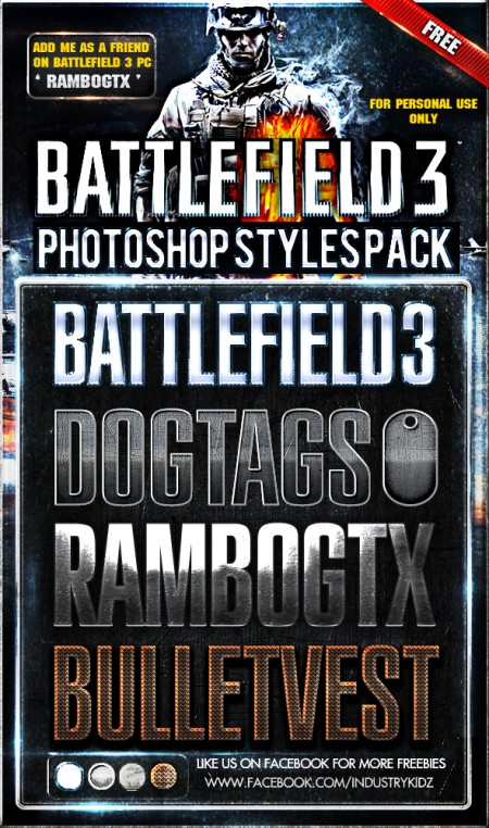 Free Battlefield Photoshop Styles
