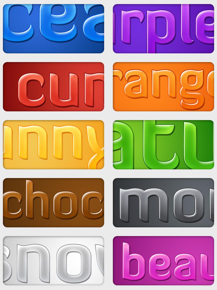Free Styles: Glossy Text Styles | Mikolaj Dobrucki
