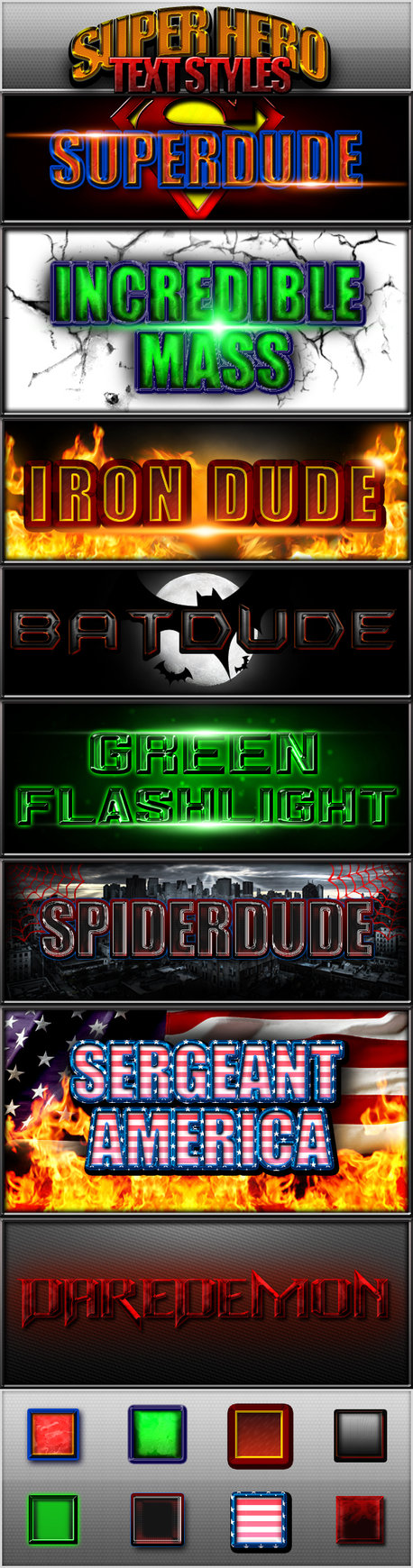 Free Styles: Super Hero Text Styles | Devin Hansen