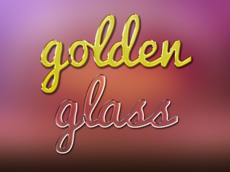 Free Gold and glass text effects