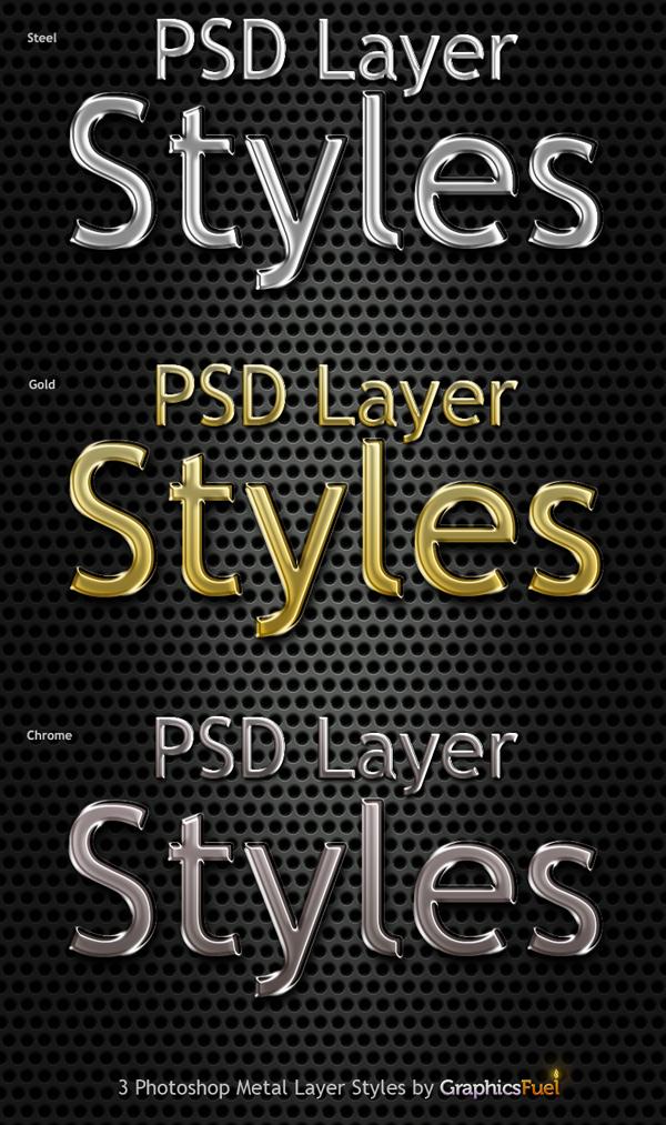Free Styles: Photoshop metal text styles | Rafi