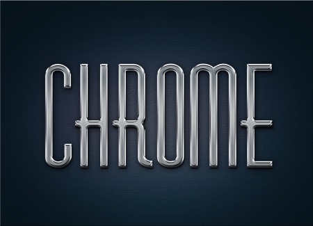 Free Chrome Layer Style