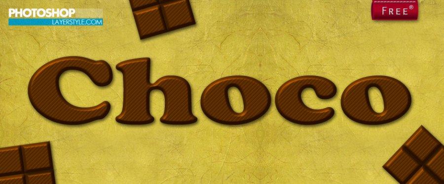 Free Styles: Chocolate Layer Style | Michael Kruiswijk