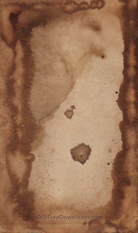 Free Coffee stained paper