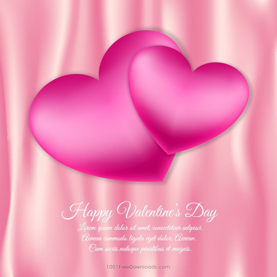 Free Valentine's day vector illustration with hearts