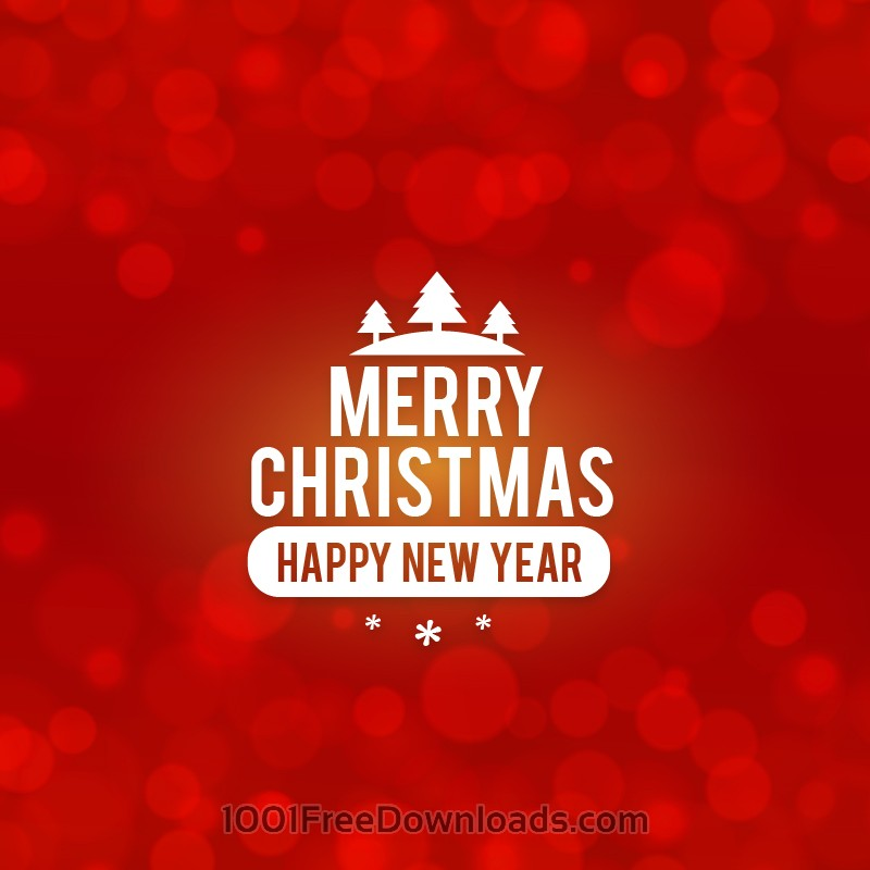 Free Vectors: Christmas background with typography | Abstract