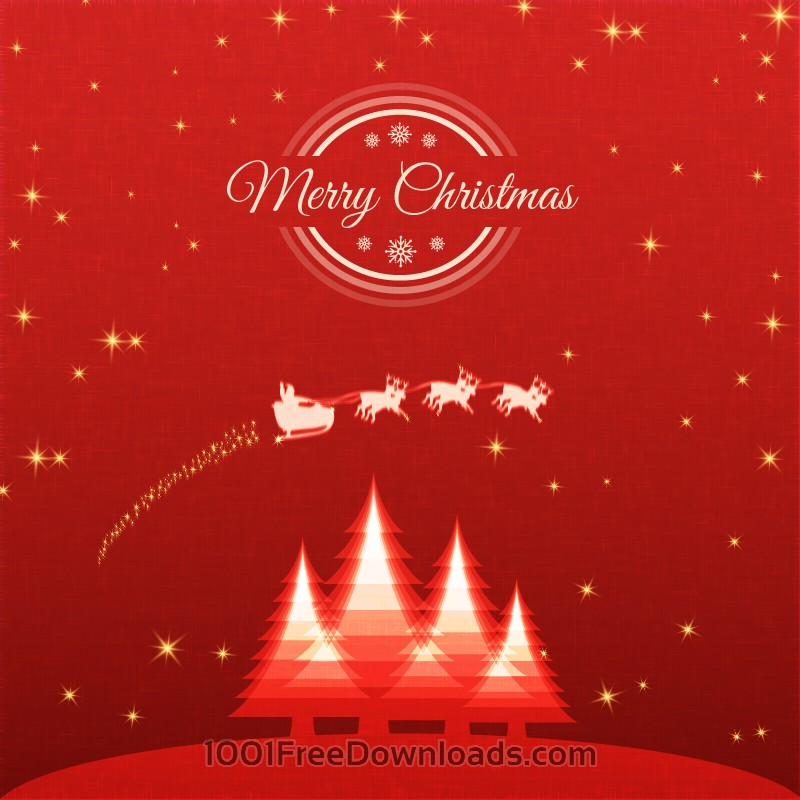 Free Vectors: Christmas background with santa and sledge | Abstract