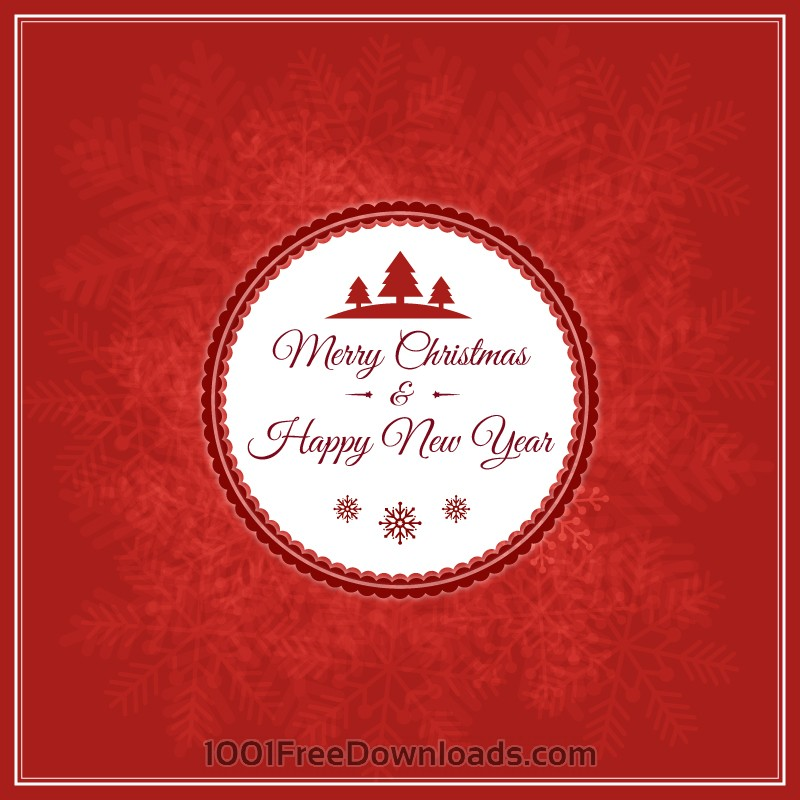 Free Vectors: Christmas vector illustration with badge | Abstract