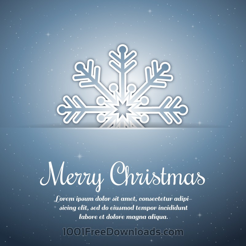 Free Christmas background with typography and snow flake