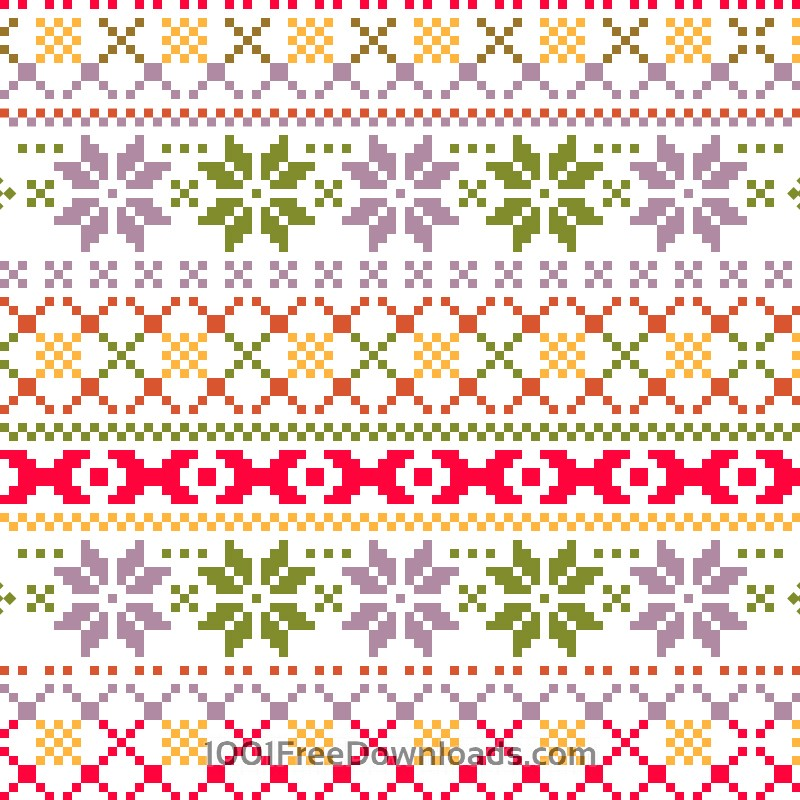 Free Christmas pattern with christmas