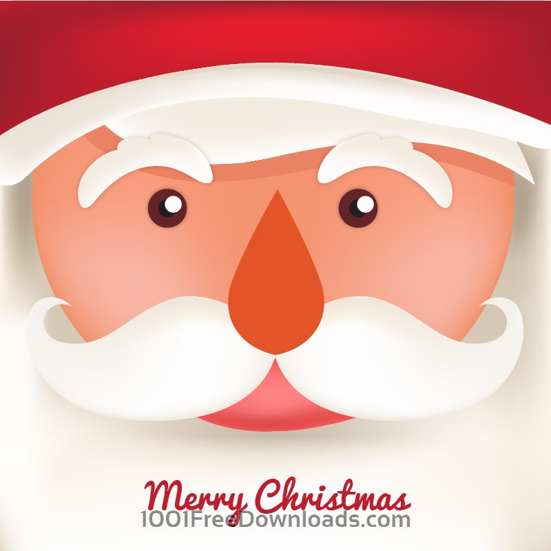 Free Christmas background with typography and santa