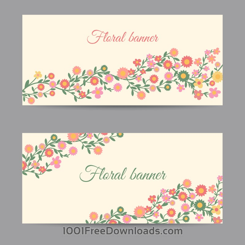 Free Vectors: Floral banners | Abstract