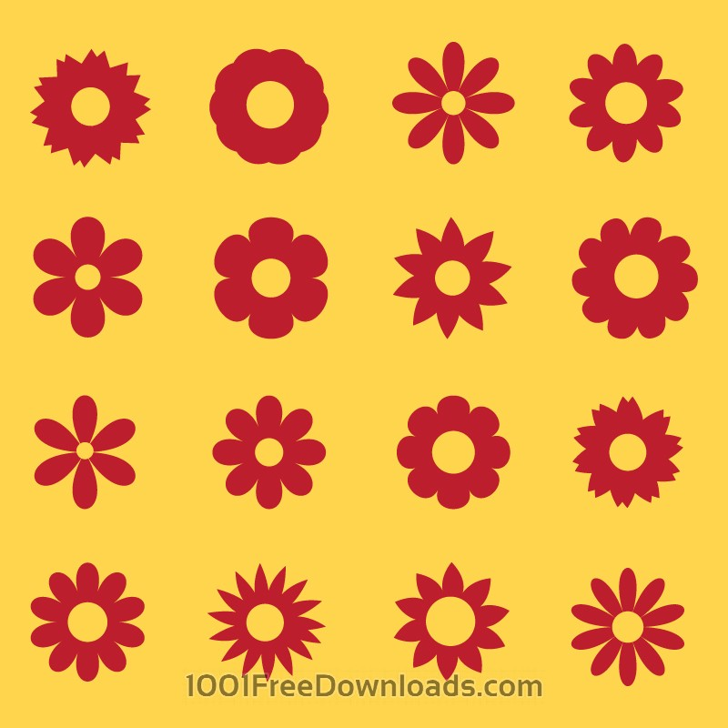 Free Flowers vector set