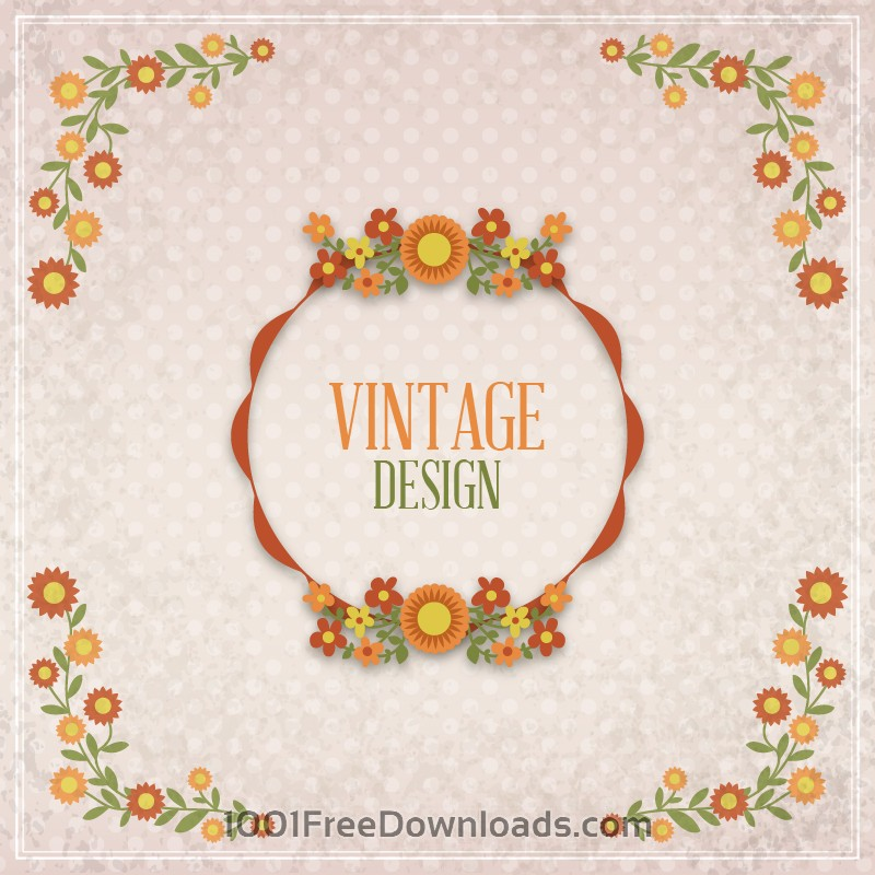 Free Vintage floral illustration