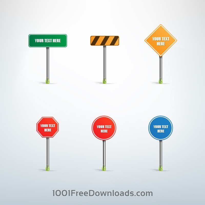 Free Traffic sign vector set