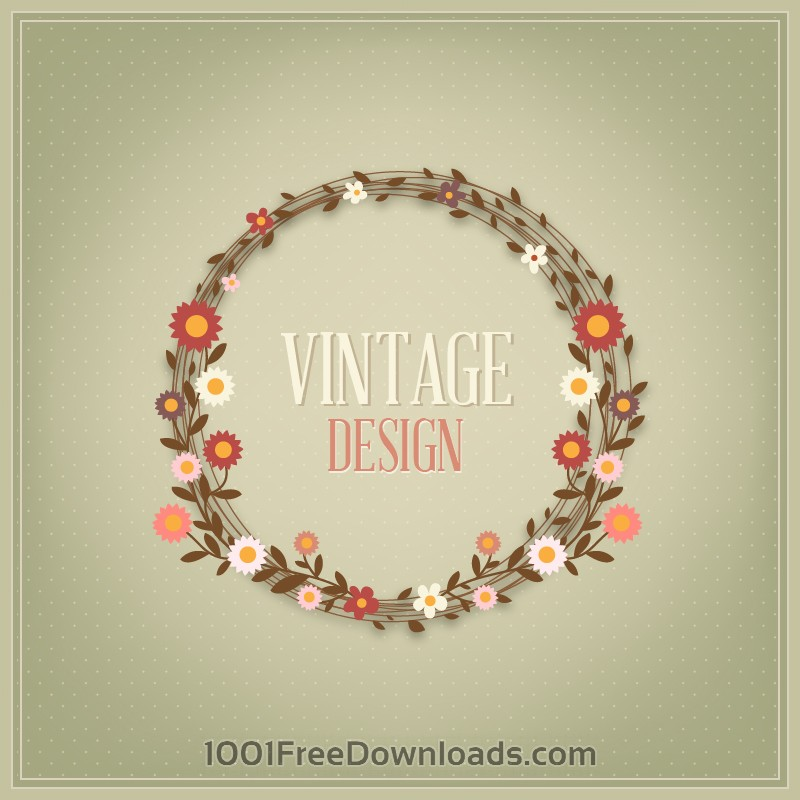 Free Vectors: Floral vintage card | Abstract