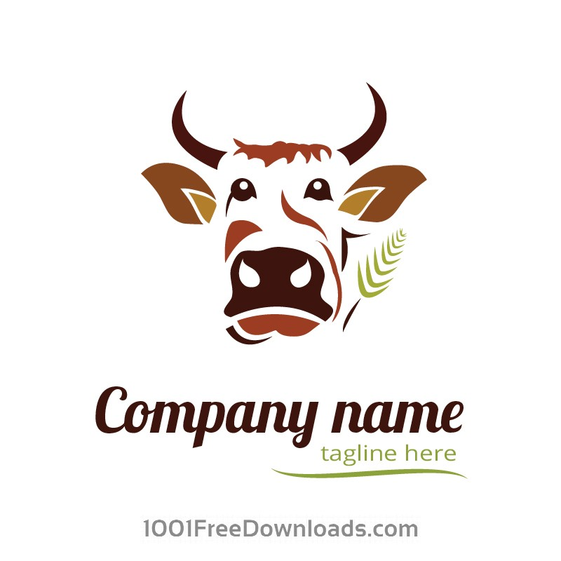 Free Vectors: Cow logo design | Abstract
