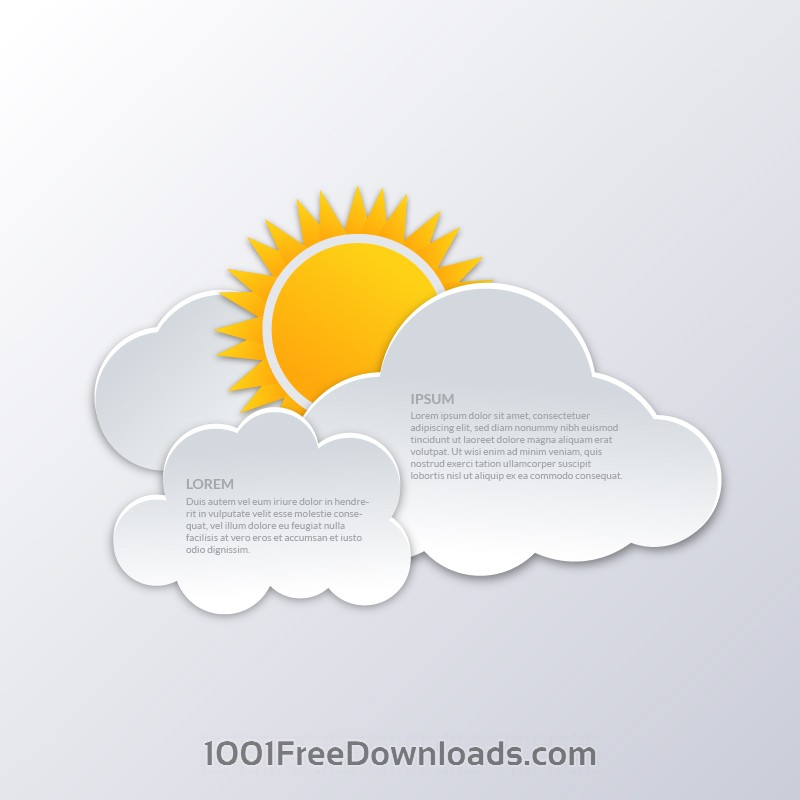 Free Clouds with sun illustration