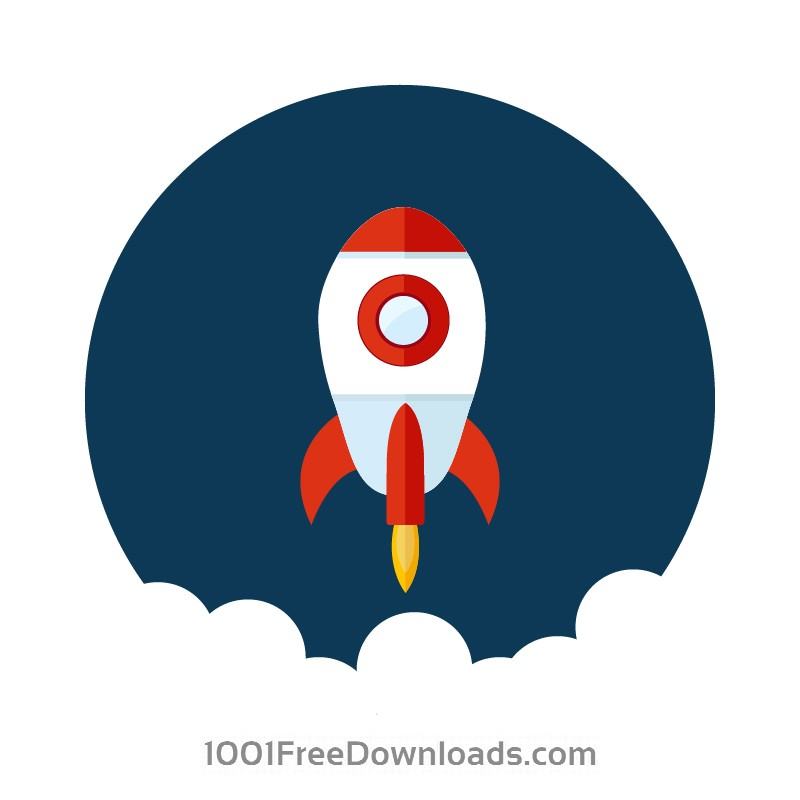 Free Vectors: Space rocket launch | Abstract