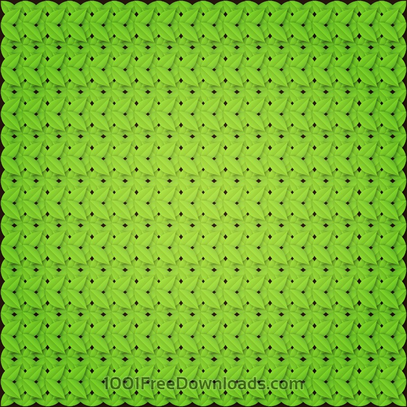 Free Vectors: Green leaves pattern | Abstract