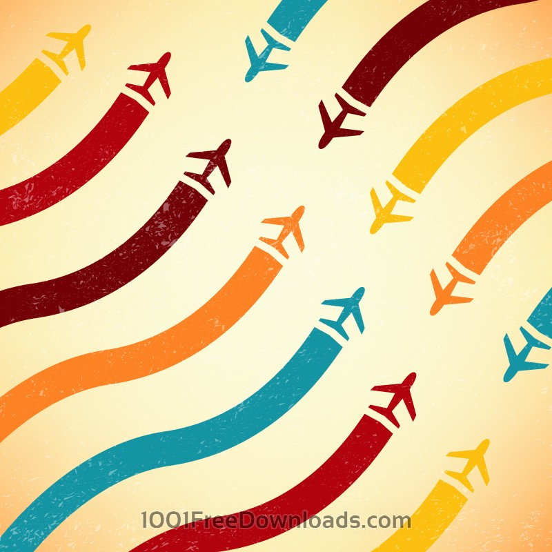 Free Vectors: Abstract airplane illustration | Abstract