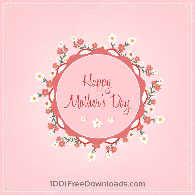 Free Vectors: Mother's day floral illustration | Abstract