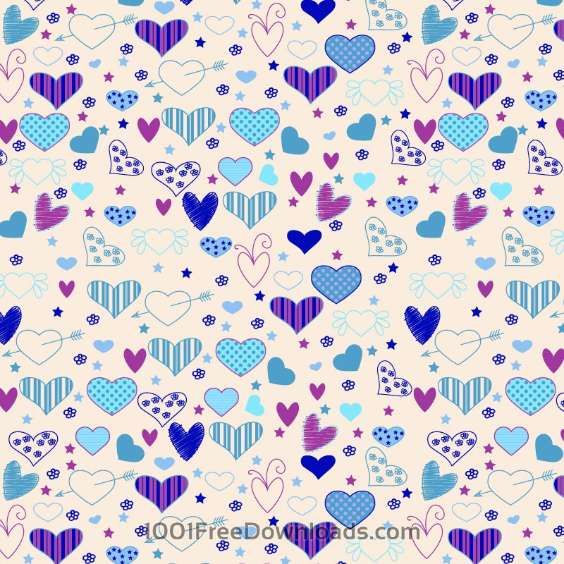 Love pattern with hearts