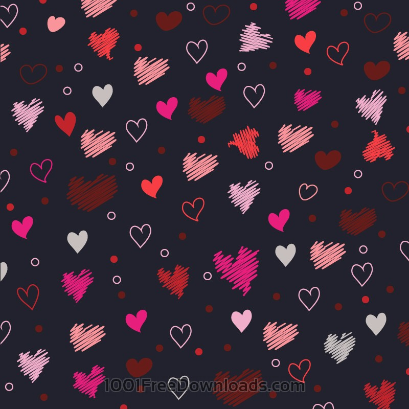 Free Vectors: Love pattern with hearts | Valentine