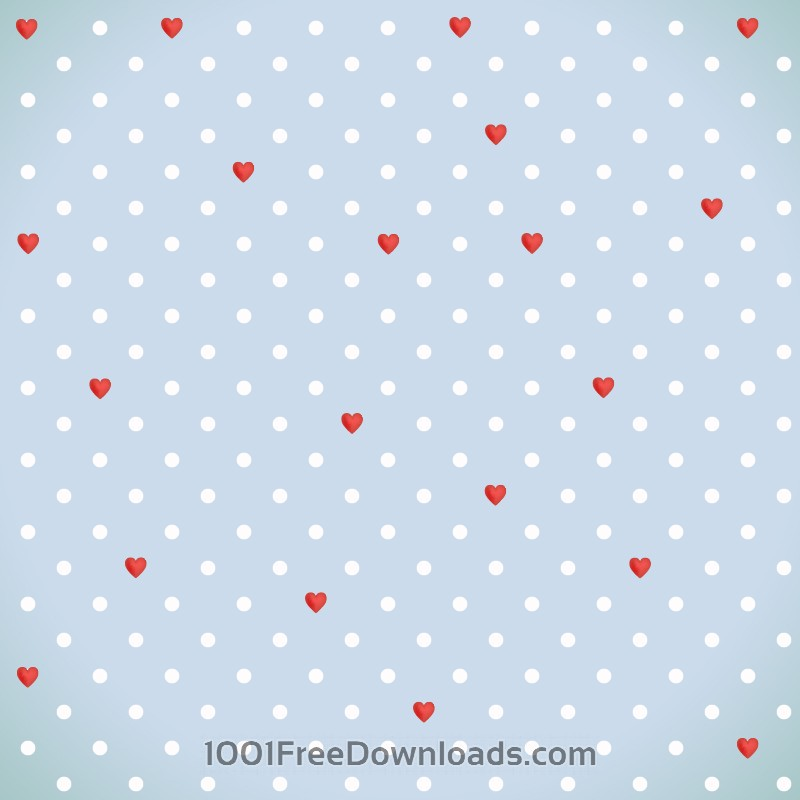 Free Love pattern with red hearts