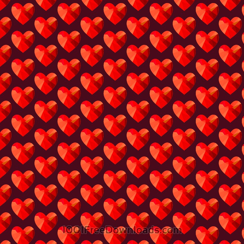 Free Vectors: Love pattern with red abstract hearts | Abstract