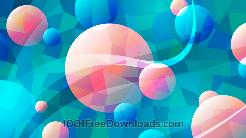 Free Abstract Circles and Polygons