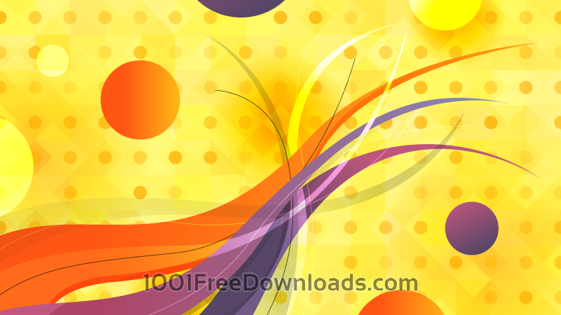 Free Abstract Circles and Wavy Lines