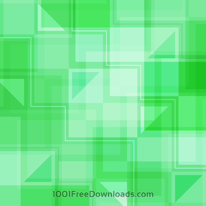 Free Vectors: Green Squares and Triangles | Abstract