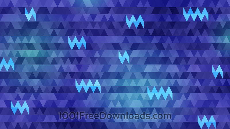 Free Triangles in Shades of Blue