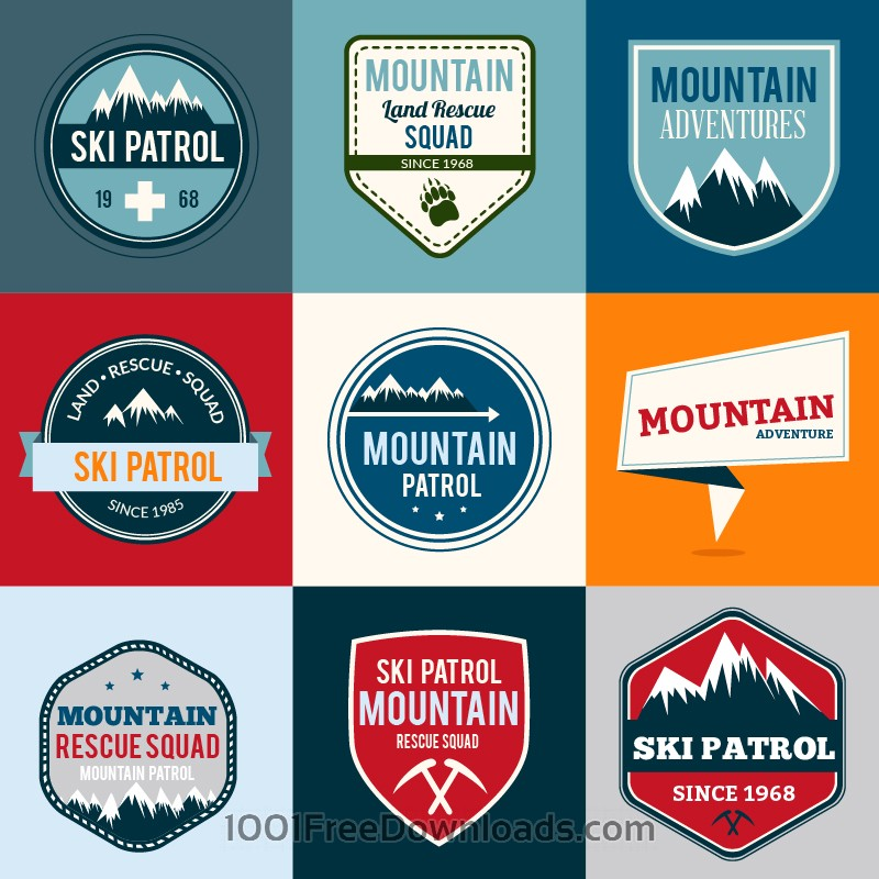 Free Badges vector set