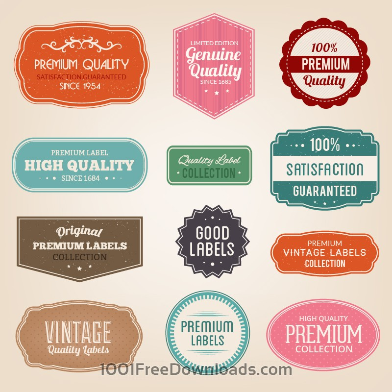 Free Vectors: Badges vector set | Abstract
