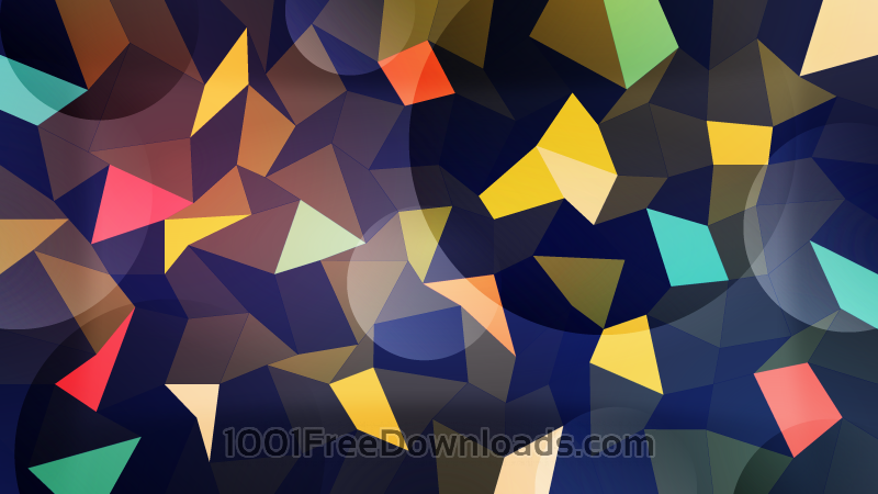 Free Colorful Polygons with Circles