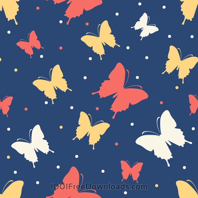 Free Vectors: Butterfly vector pattern | Abstract