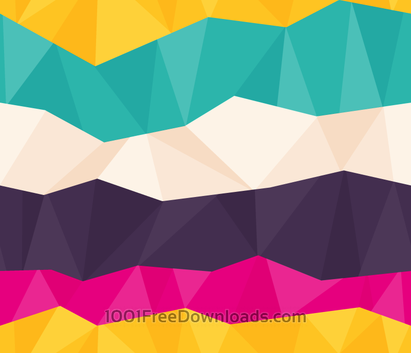 Free Colorful Polygon Pattern