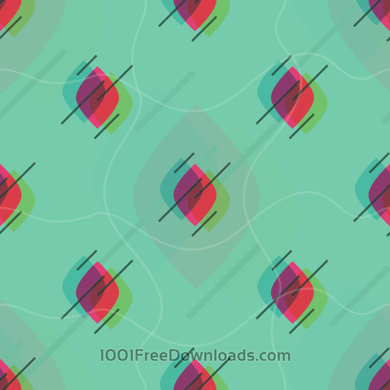 Free Abstract Leaf Pattern