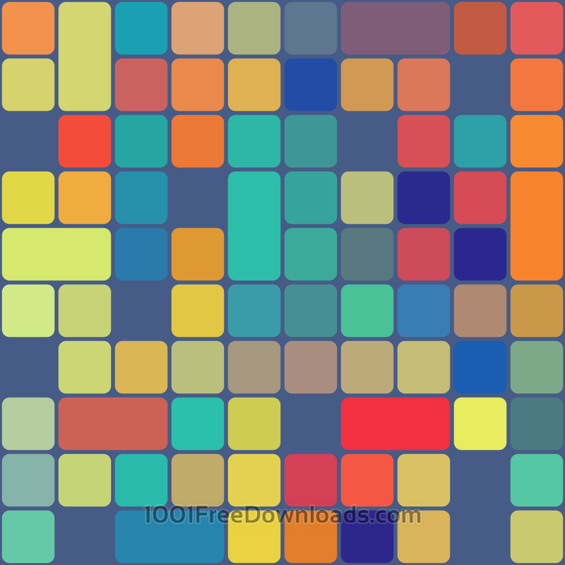 Free Rounded Squares Pattern