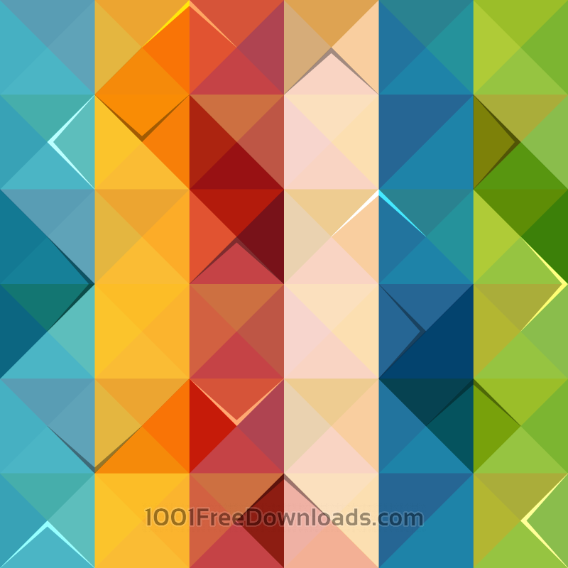 Free Vectors: Colorful Triangle Pattern | Patterns