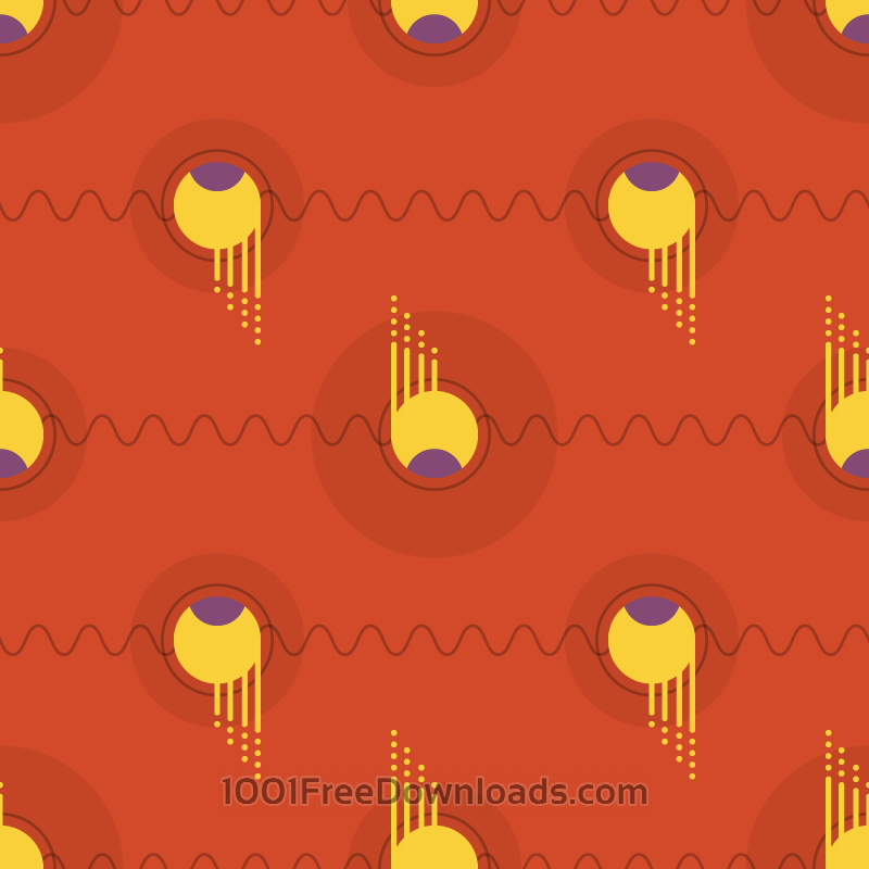 Free Vectors: Flying Orbs Pattern | Patterns