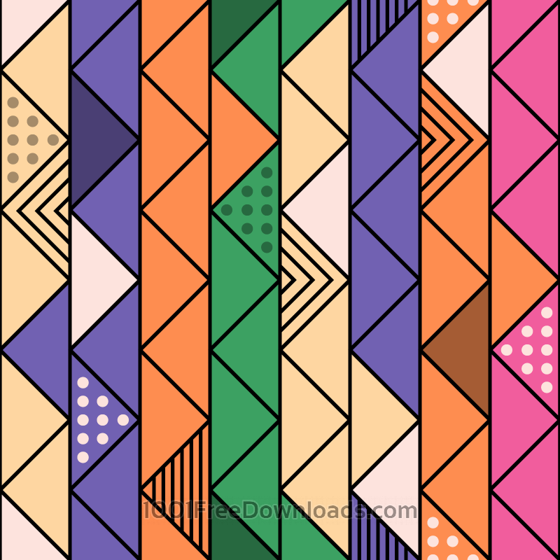 Free Colorful Retro Line Pattern